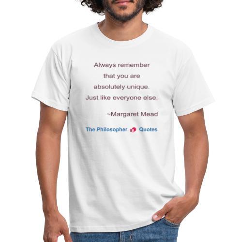 Margaret Mead Unique Philosopher b - Mannen T-shirt