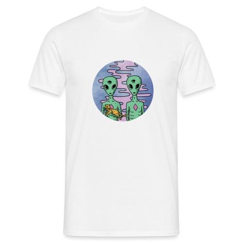 TRIPPY ALIEN - Mannen T-shirt