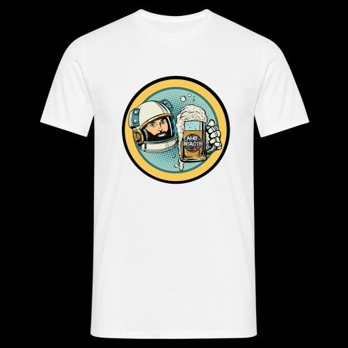 Astronaut With Beer - Men's T-Shirt