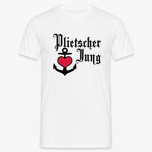 Plietscher Jung Herz Anker 2c - Männer T-Shirt