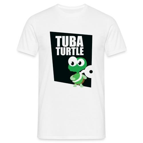 tuba schildpad3 - Mannen T-shirt