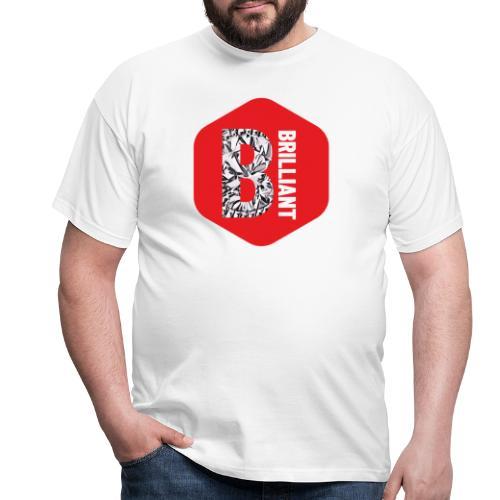 B brilliant red - Mannen T-shirt