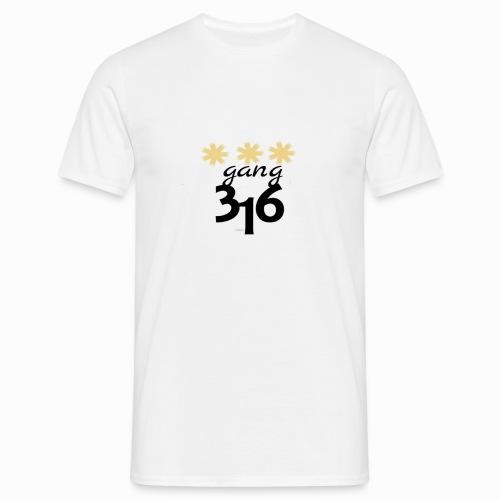 Three-Star 316 gang logo - T-shirt herr