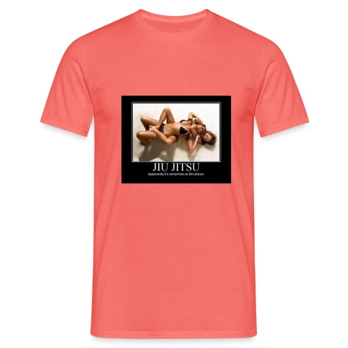 Jiu Jitsu vrouwelijk schoon - Mannen T-shirt