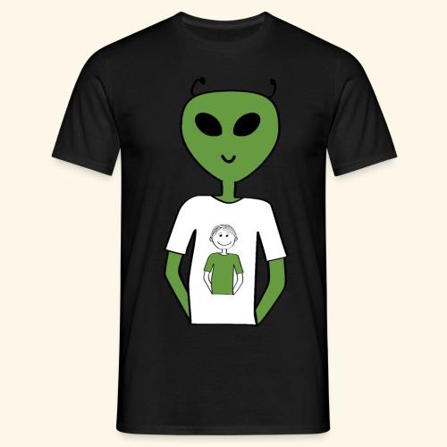 Alien human T shirt - T-shirt herr