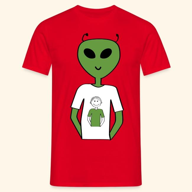 Alien human T shirt