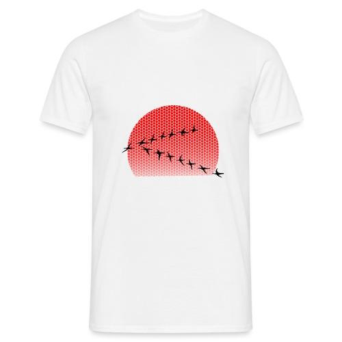 Dots Sonnenuntergang - Männer T-Shirt