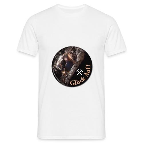 runder Bergbau Aufkleber Untertage - Männer T-Shirt