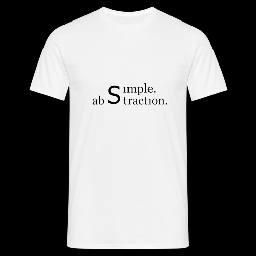 simple. abstraction. logo - Männer T-Shirt