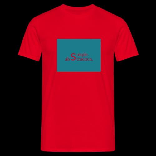 simple. abstraction. Logo - Männer T-Shirt