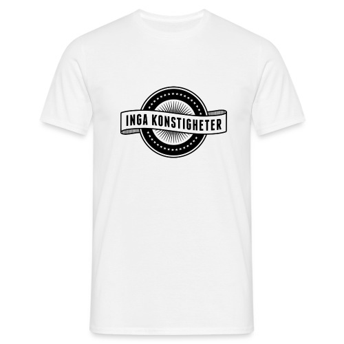 Inga Konstigheters klassiska logga (ljus) - T-shirt herr