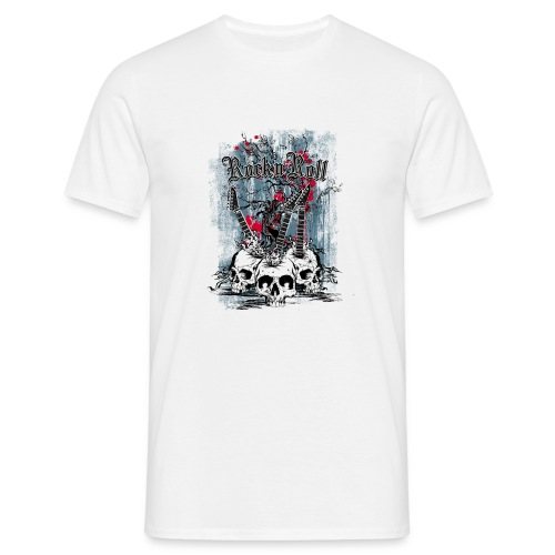 rock n roll skulls - Mannen T-shirt