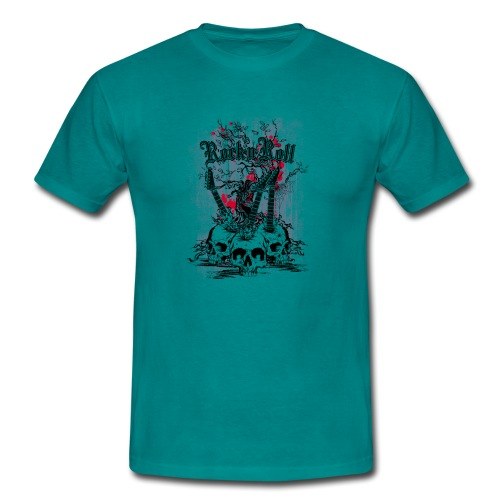 rock n roll skulls - Mannen T-shirt