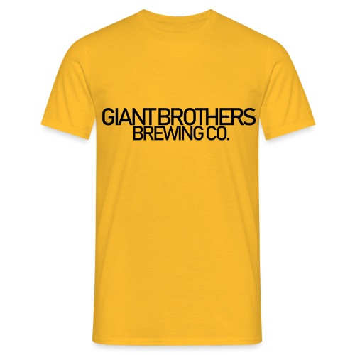 Giant Brothers Brewing co SVART - T-shirt herr