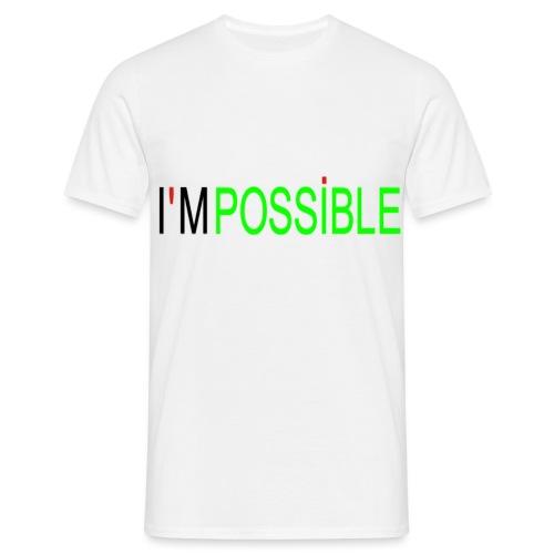 T-shirt à manche courte pour homme I'M POSSIBLE - T-shirt Homme