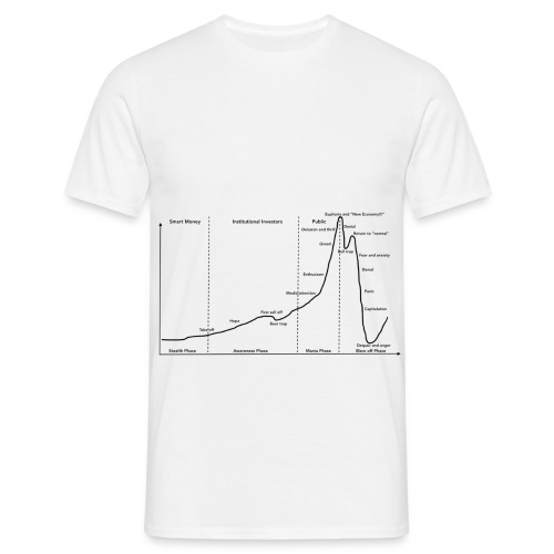 Stock market bubble cycle-Wall Street Cheat Sheet - T-shirt herr