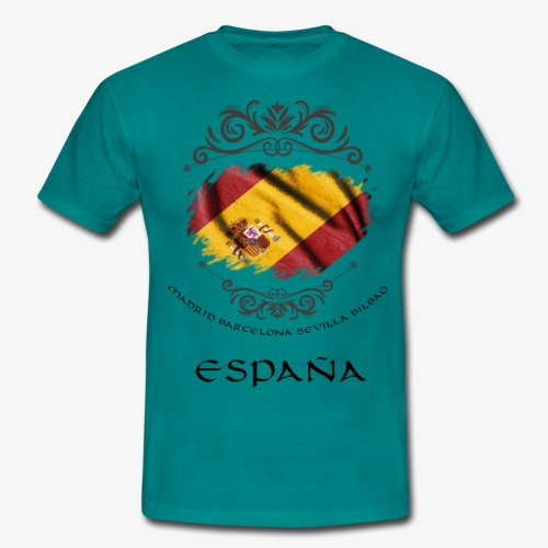 Spain Vintage Flag - Männer T-Shirt