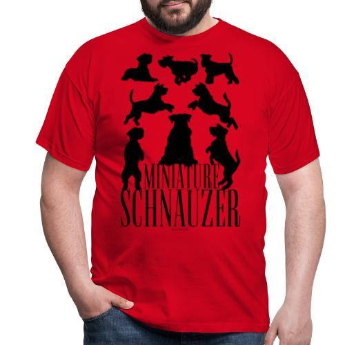 Miniature Schnauzer Black - Miesten t-paita