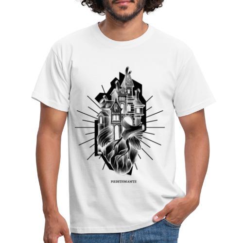 PIEDETONANTE X iorestoacasaArtistiUniti - Maglietta da uomo