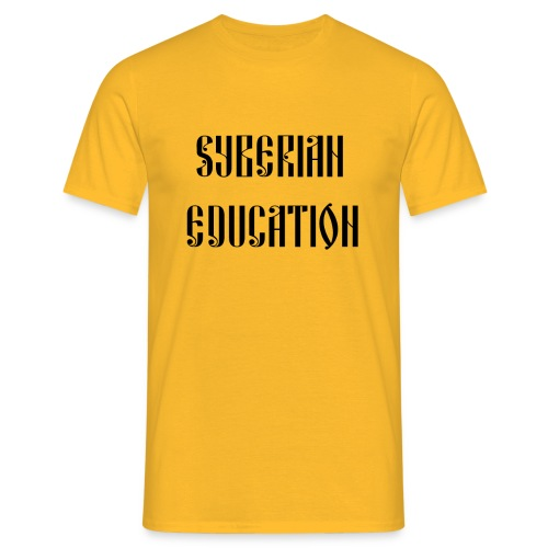 Russia Russland Syberian Education - Men's T-Shirt