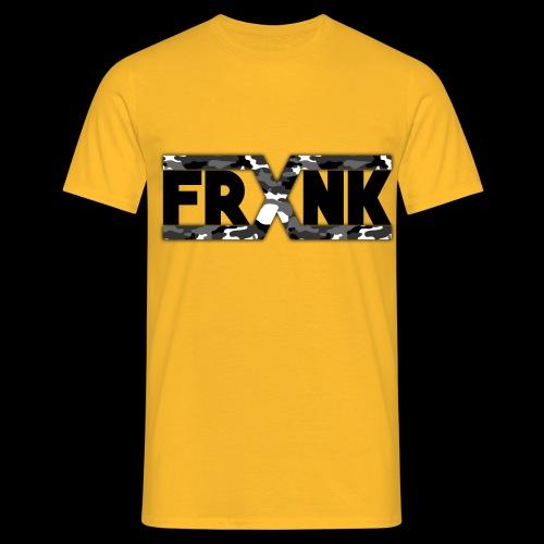 Grey Camo 'FRXNK' Logo - Men's T-Shirt