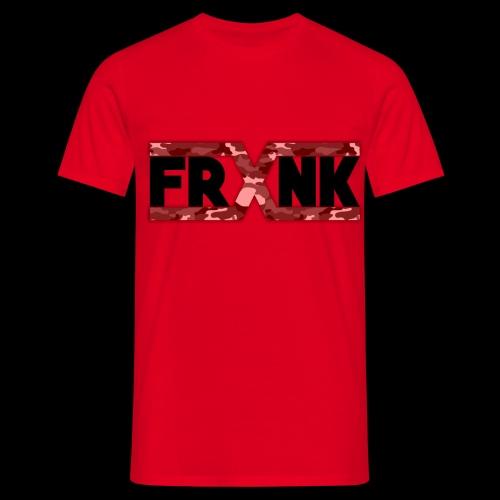 Red Camo 'FRXNK' Logo - Men's T-Shirt