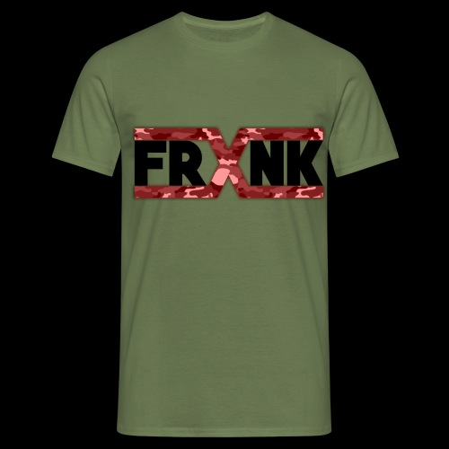 Red Camo 'FRXNK' Logo - Men's T-Shirt