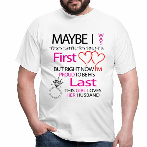 I love my husband - gift idea - Men's T-Shirt