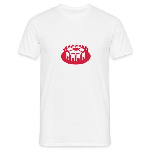 Rundes Leder - Männer T-Shirt
