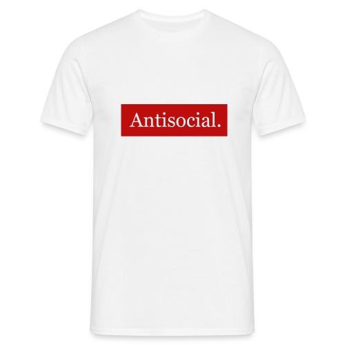 Antisocial. - Miesten t-paita