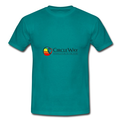 Circleway Permaculture of the heart Logo - schwarz - Männer T-Shirt