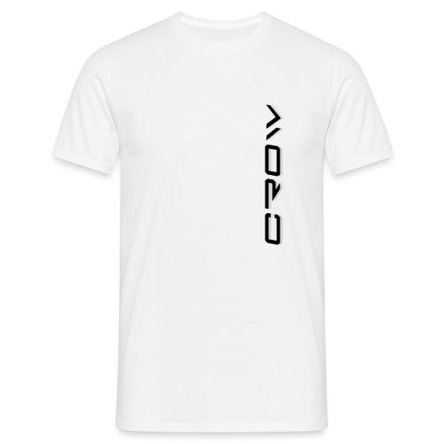 CROW TEXT VERTICAL BLACK T-SHIRT - Men's T-Shirt