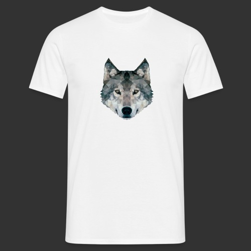 Loup LowPoly - T-shirt Homme