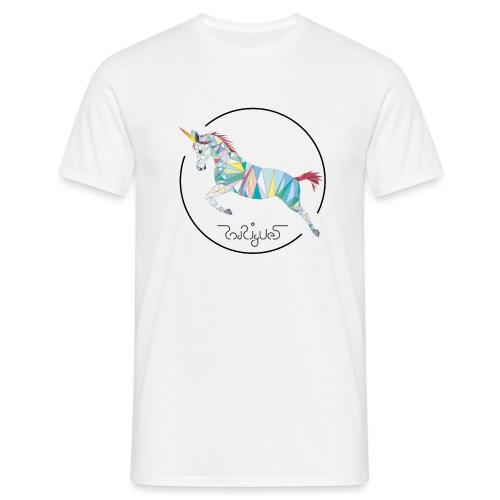 Einhorn Wappen - Männer T-Shirt