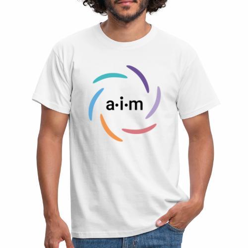 AIM Logo farbig - Männer T-Shirt