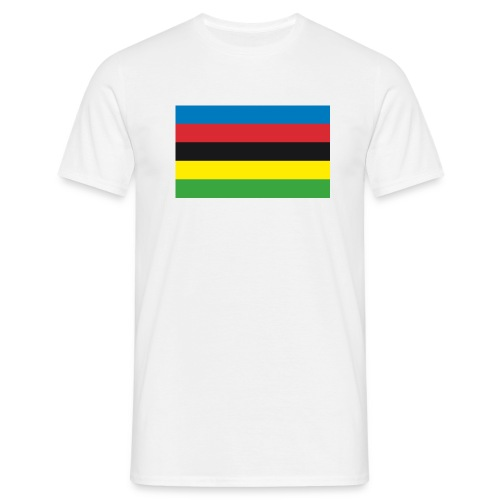 Cycling_World_Champion_Rainbow_Stripes-png - Mannen T-shirt