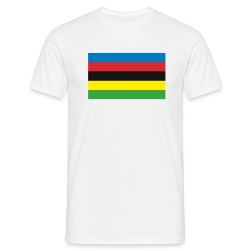 Cycling_World_Champion_Rainbow_Stripes-png - Mannen T-shirt