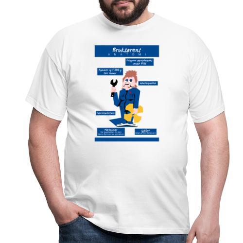 Bruksarens anatomi - Miesten t-paita