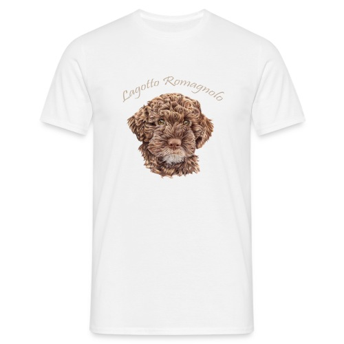 Lagotto Romagnolo med text - T-shirt herr