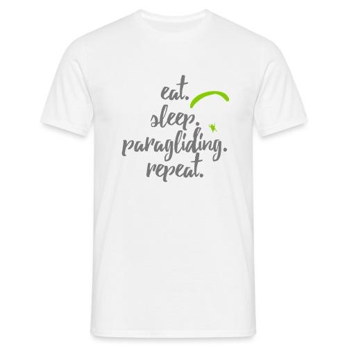 eat. sleep. paragliding. repeat. - Männer T-Shirt