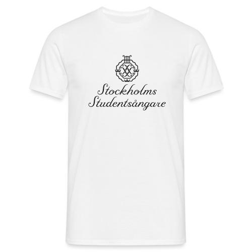 SSSF logo / emblem + namn (svart) - T-shirt herr