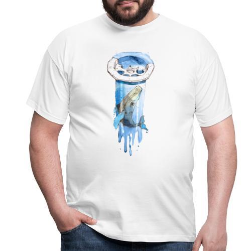 Wal im Abfluss (Whale in the Drain) - Männer T-Shirt