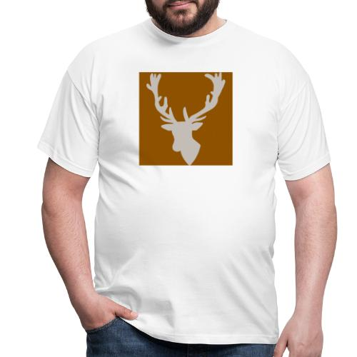 Hirch B BROWN WHITE - Männer T-Shirt
