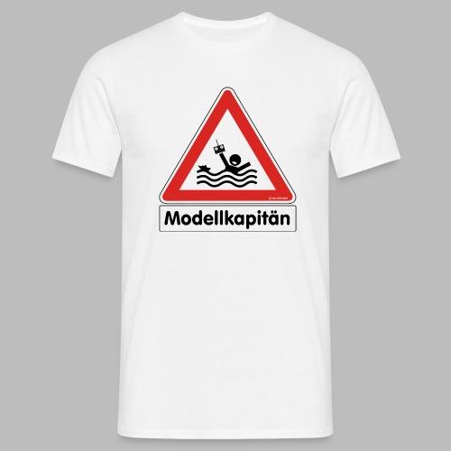 Warnschild Modellkapitän - Männer T-Shirt