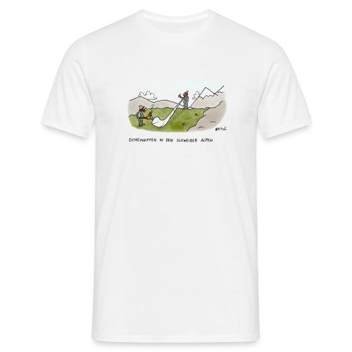 Extremkiffen in den Schweizer Alpen - Männer T-Shirt