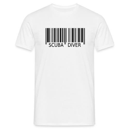 Barcode ScubaDiver - Männer T-Shirt