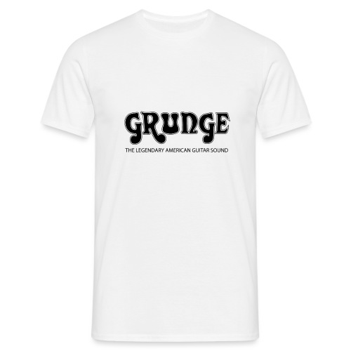 grunge3blacklarge png - Men's T-Shirt