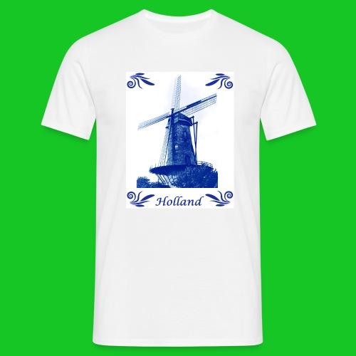 Delfts Blauw Molen - Mannen T-shirt