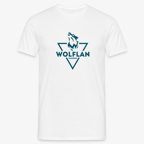 WolfLAN Logo Gray/Blue - Men's T-Shirt