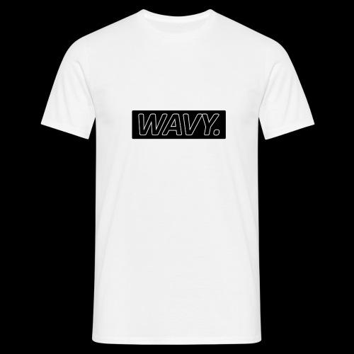 BLACK WAVY. RECTANGLE - T-shirt Homme